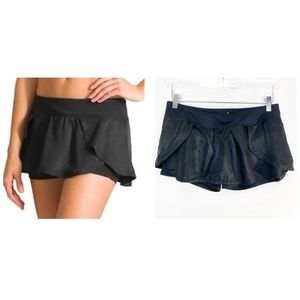 ATHLETA | black flutter skort • Built in shorts
